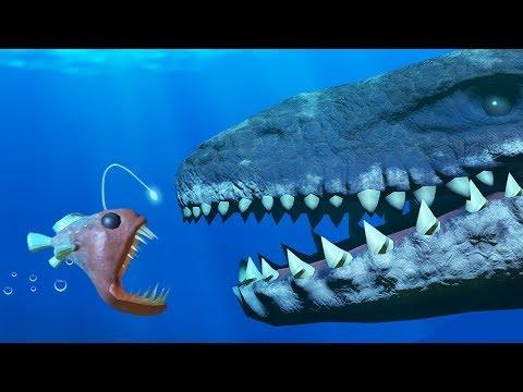 ANGLER FISH Vs MOSASAURUS! OCEAN SUPER BOWL - Feed And Grow Fish - Part 74 | Pungence