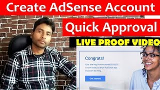 How to Create Adsense Account and Fast Adsense Approval Trick  in Hindi 2019