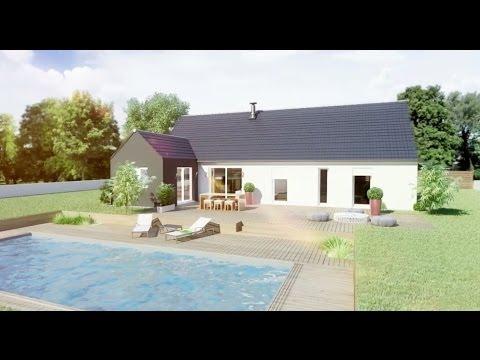 Maison de plain pied du constructeur maison familiale geoxia youtube - Geoxia maisons individuelles ...