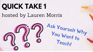 Improv Teachers: Quick Take #1