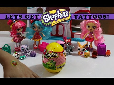 Special new 2016 easter shopkins tattoo egg lets get for Easter tattoos walmart