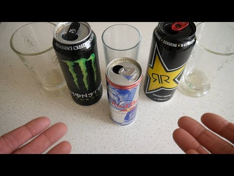 Energy Drink Taste Test | Red Bull, Rockstar, Monster