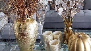 💎🍁🍂🏠 Glam Fall Haul / ideas de decoración de otoño glam