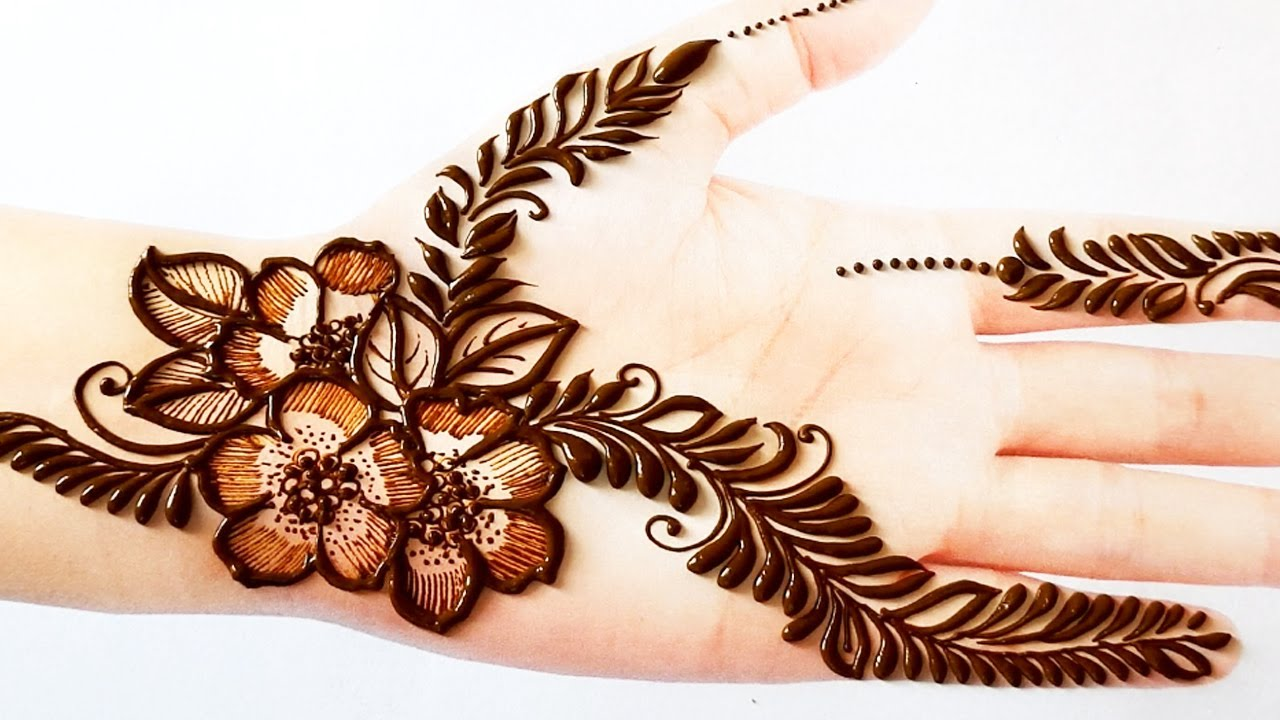 Very Beautiful Easy Mehndi Design Step by Step | front Hand Floral Mehndi Design | Shaded Mehendi