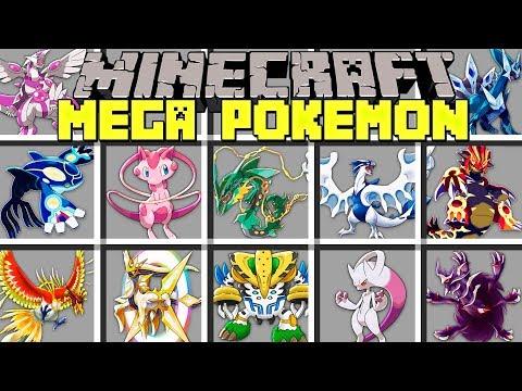 Minecraft MEGA LEGENDARY POKÉMON MOD l MEGA EVOLVE NEW LEGENDARY POKÉMON! l Modded Mini-Game