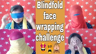 Blindfold Face Wrapping With Dupatta Challenge 😎🤩🤩🤩