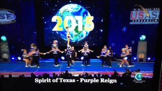 Spirit of Texas Purple Reign 2015 Cheer Worlds - Saturday