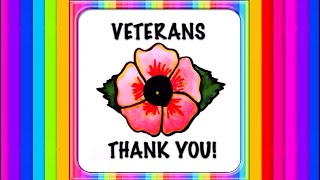 veterans day 2017 thank you for your service how to draw paint a poppy flower kids painting drawing