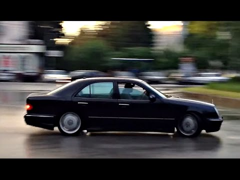mercedes e55 amg w210 drifting youtube. Black Bedroom Furniture Sets. Home Design Ideas