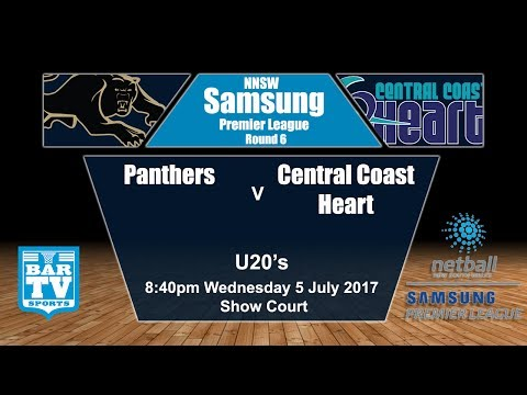 2017 Samsung Premier League Round 6 U20's - Panthers v Central Coast Heart (Show Court)