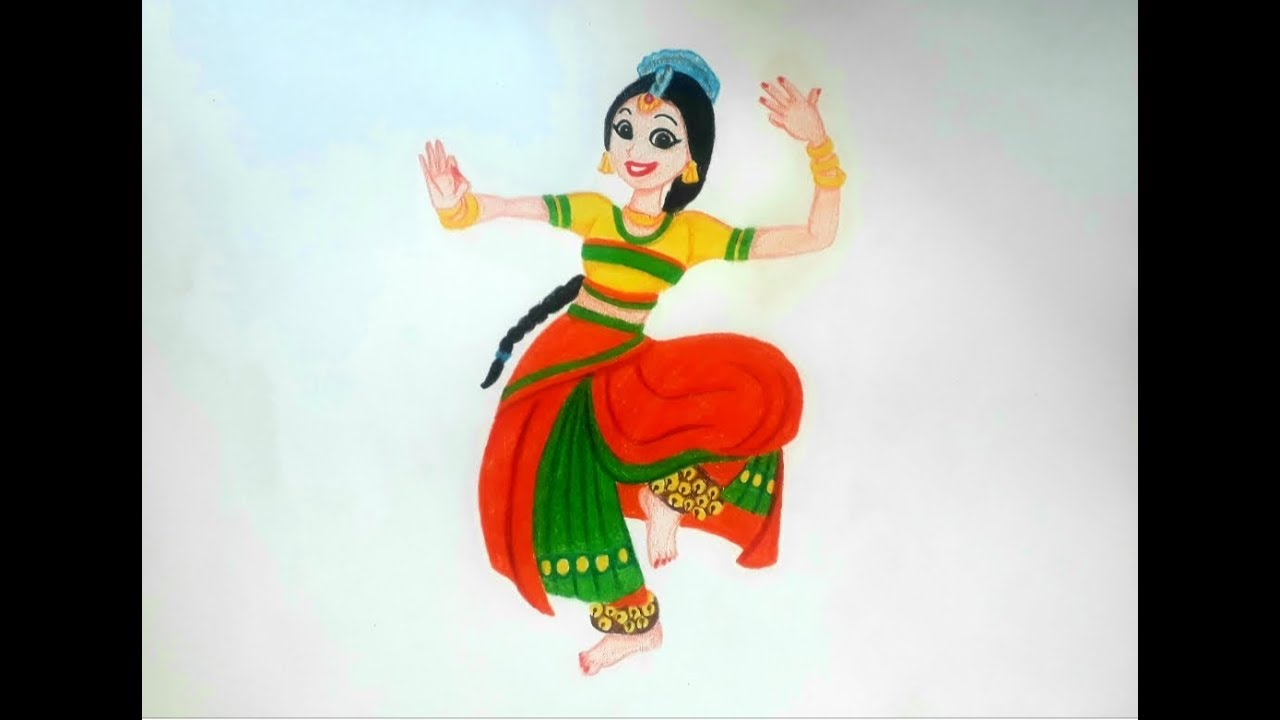 Indian Classical Dance Drawing Youtube