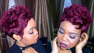 Full Sew In Weave Pixie Cut Start to Finish