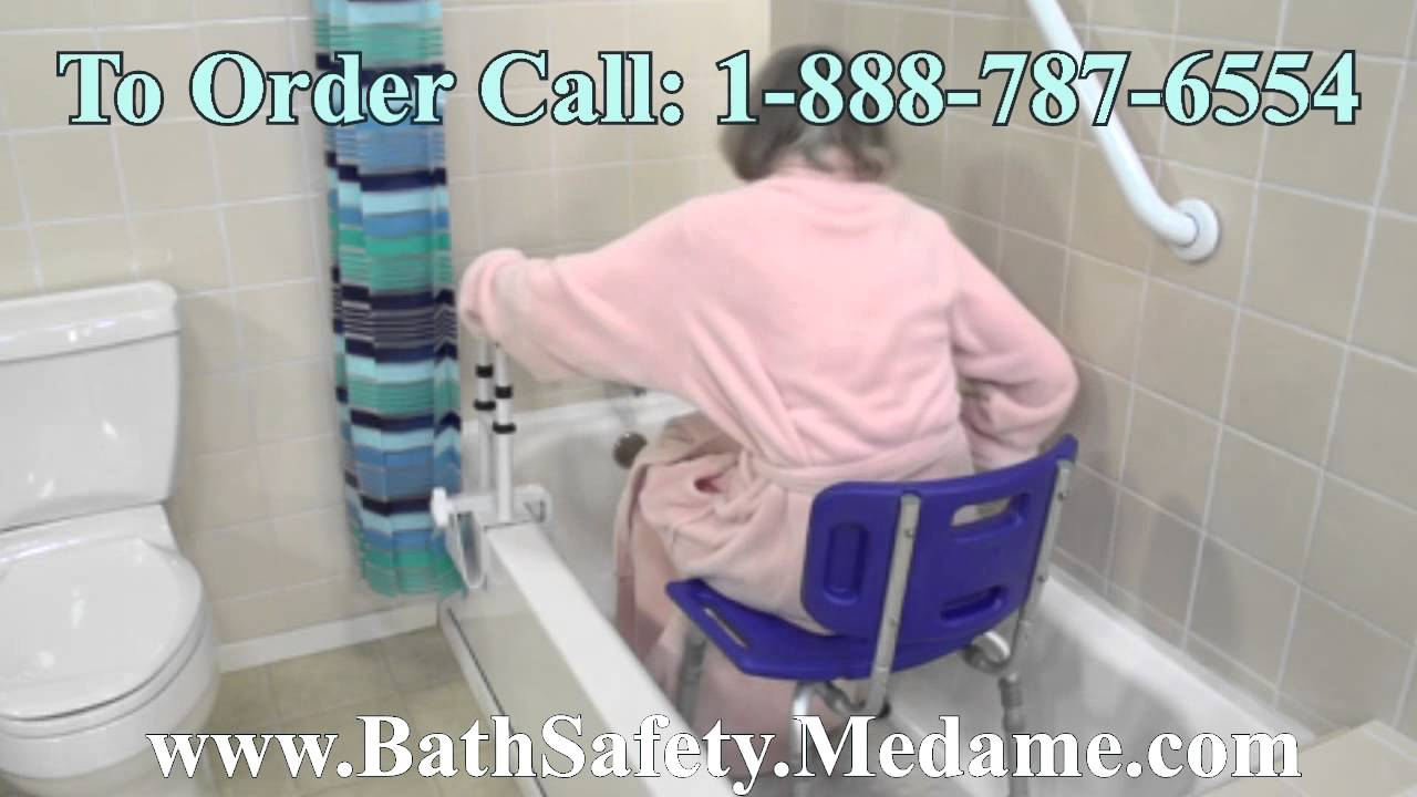 Adjustable Folding Bath & Shower Chair for Handicapped & Disabled ...
