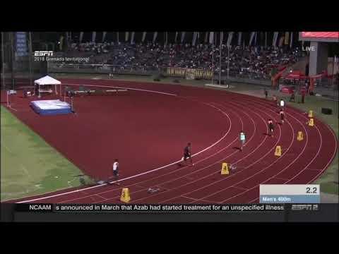 Bralon Taplin 400m - Grenada Invitatonal 2018