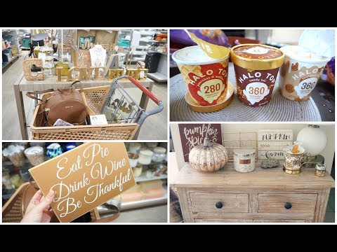 FALL DECOR SHOPPING AT HOMEGOODS, TARGET, + HALO TOP NEW FLAVORS
