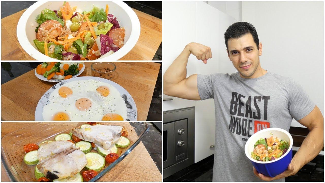 Cena proteica para aumentar masa muscular