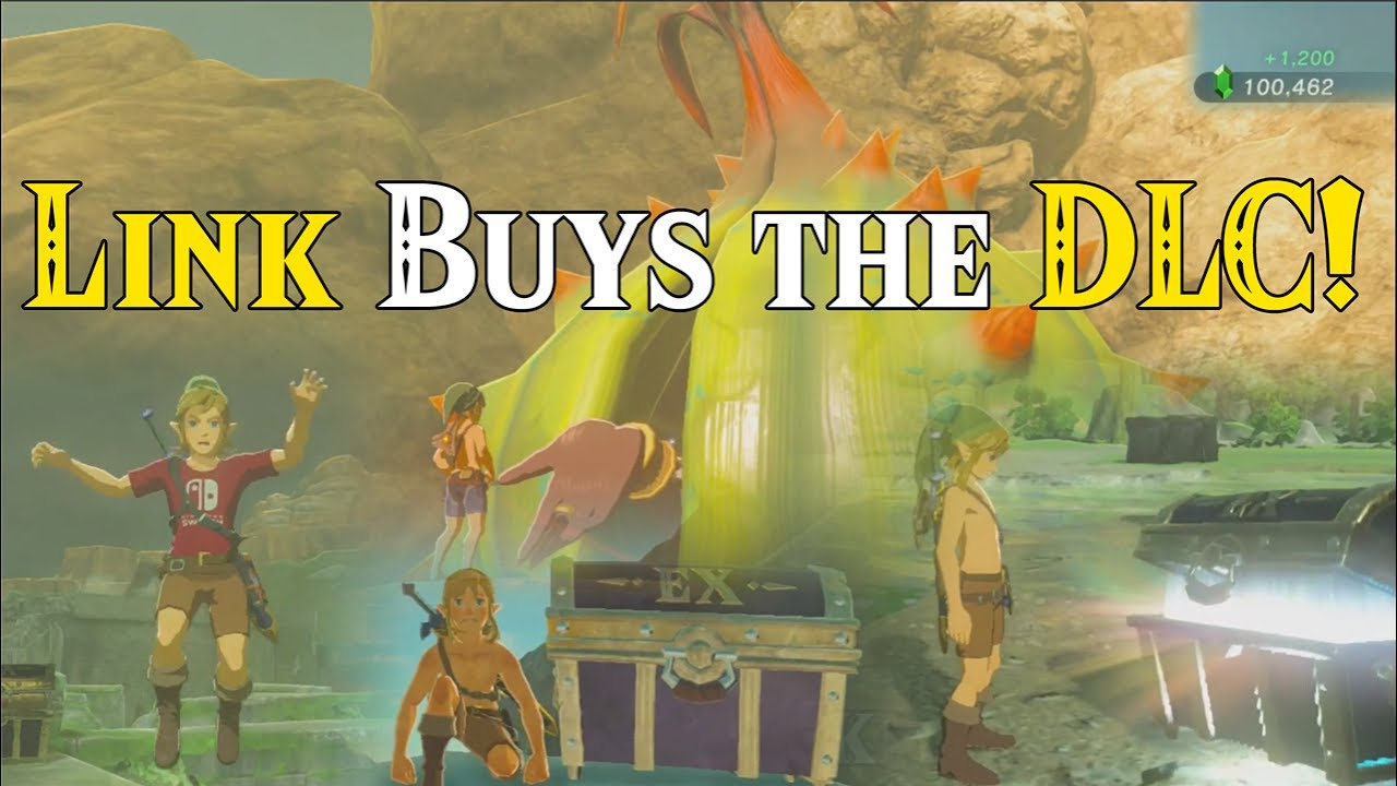 link buys the dlc  ultra live stream hype  botw dlc chest