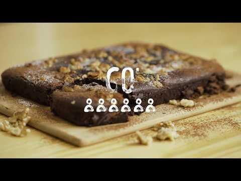 Receta - Brownie vegano (con bebida de nuez)