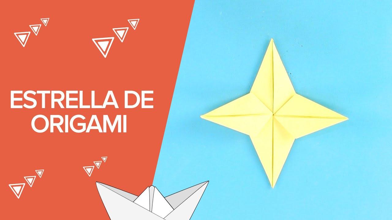 C mo hacer una estrella de origami paso a paso - Como construir una chimenea paso a paso ...