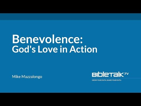 Benevolence: God's Love in Action
