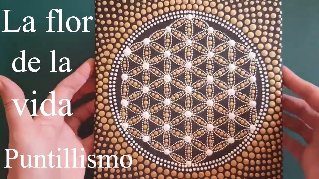 Como Pintar Mandalas Con Acrílicos 6 La Flor De La Vida Youtube