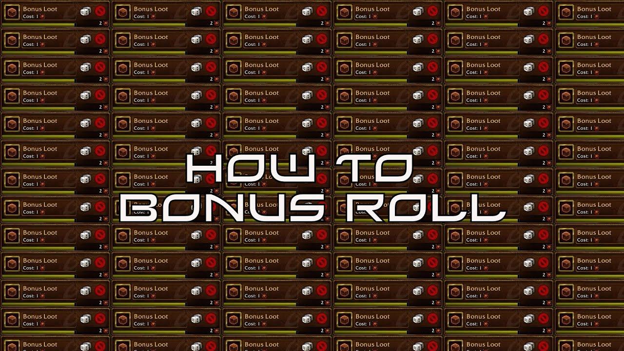 wow show bonus loot