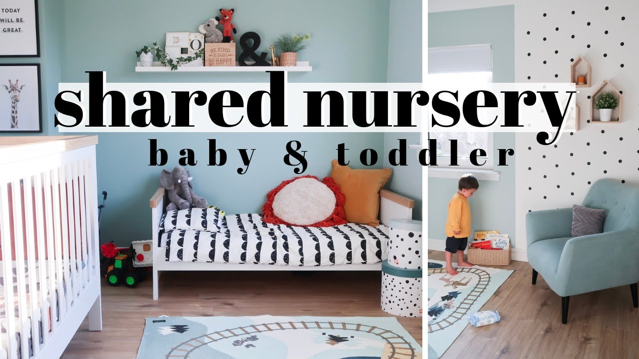 BABY & TODDLER SHARED BEDROOM TOUR 2019 | SHARED NURSERY | AD - YouTube