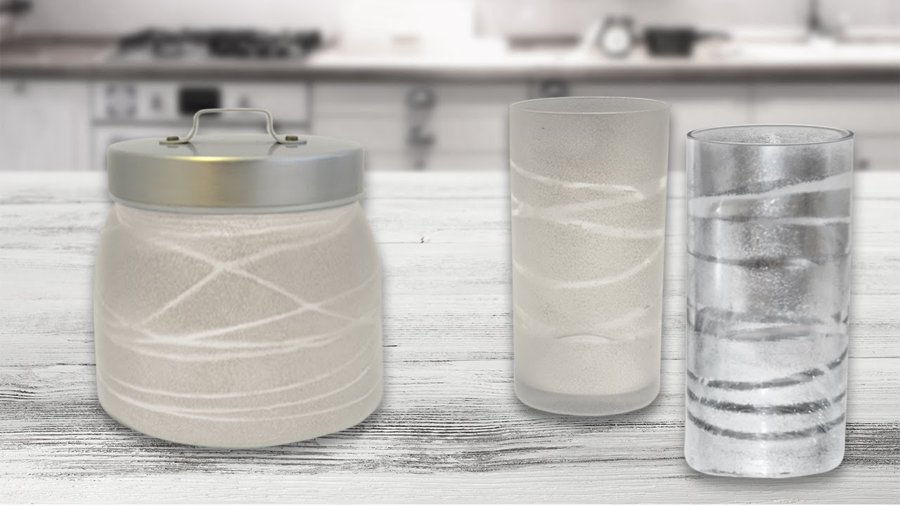 diy deko glas mit gummib ndern youtube. Black Bedroom Furniture Sets. Home Design Ideas