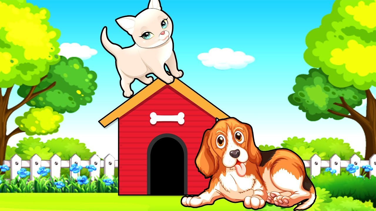 Кошка и Собака - Мультик про домашних животных ...