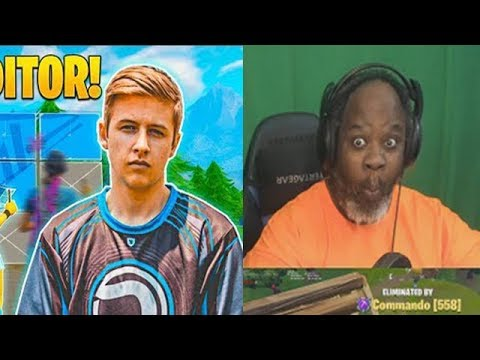 Dad Reacts to Symfuhny, The Fastest Editor in Fortnite! (INSANE)