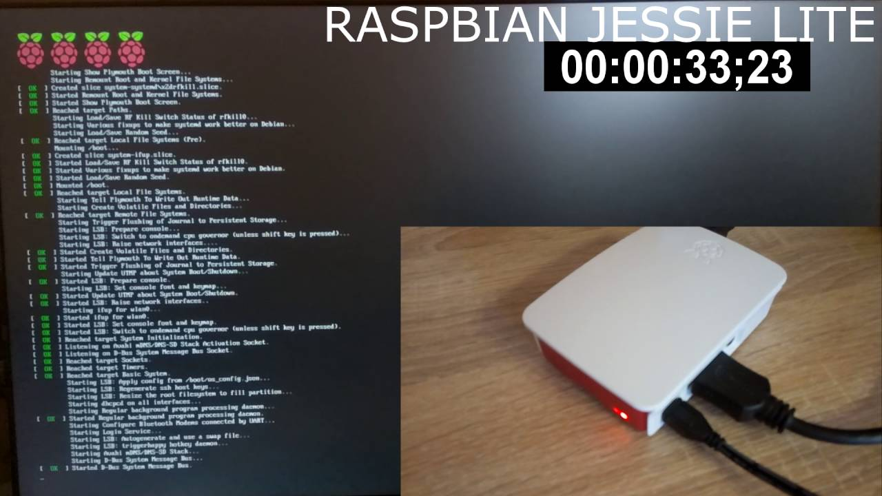 First boot raspbian lite on raspberry pi 3 with timer