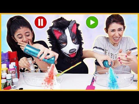 Pause Slime Challenge Kuki Gel Slaym Eğlenceli Çocuk Videosu Dila Kent
