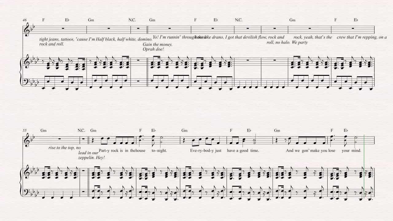 Trumpet Party Rock Anthem Lmfao Sheet Music Chords Vocals Youtube