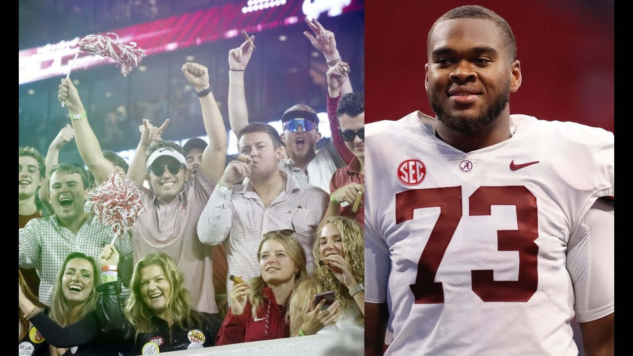 Download Evan Neal and Cam Latu talk about cigar smoke at Bryant Denny Stadium during Alabama vs. Tennessee