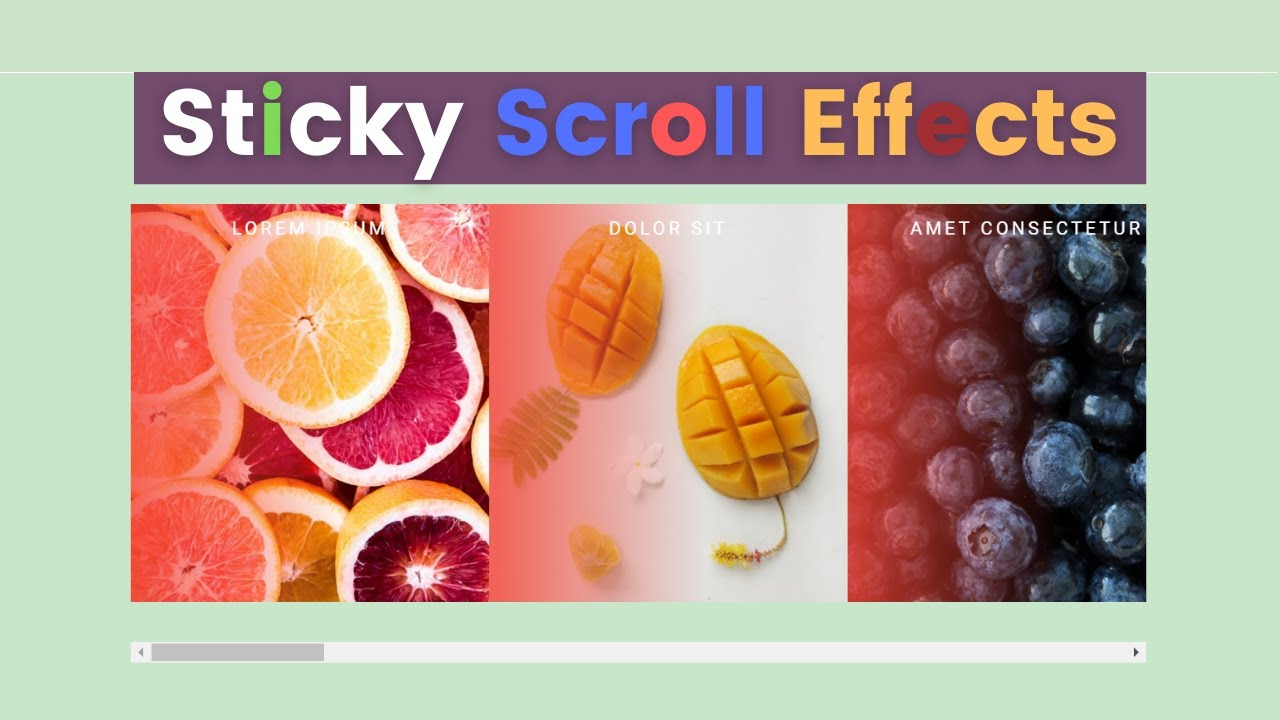 Sticky Image Scroll Effect Using HTML &CSS For Website Design - Latest Scroll Effect