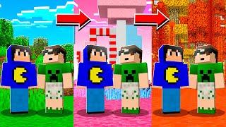 Minecraft só que a cada 5 MINUTOS a DIMENSÃO MUDA!