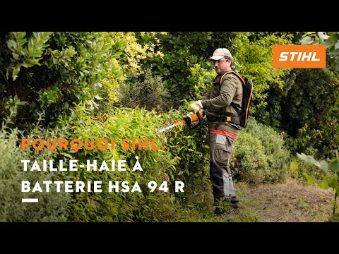 Taille haie batterie hsa 94 r stihl youtube for Taille haie a batterie stihl