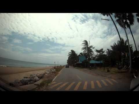 ปากน้ำปราณ ถนนเลียบชายหาด