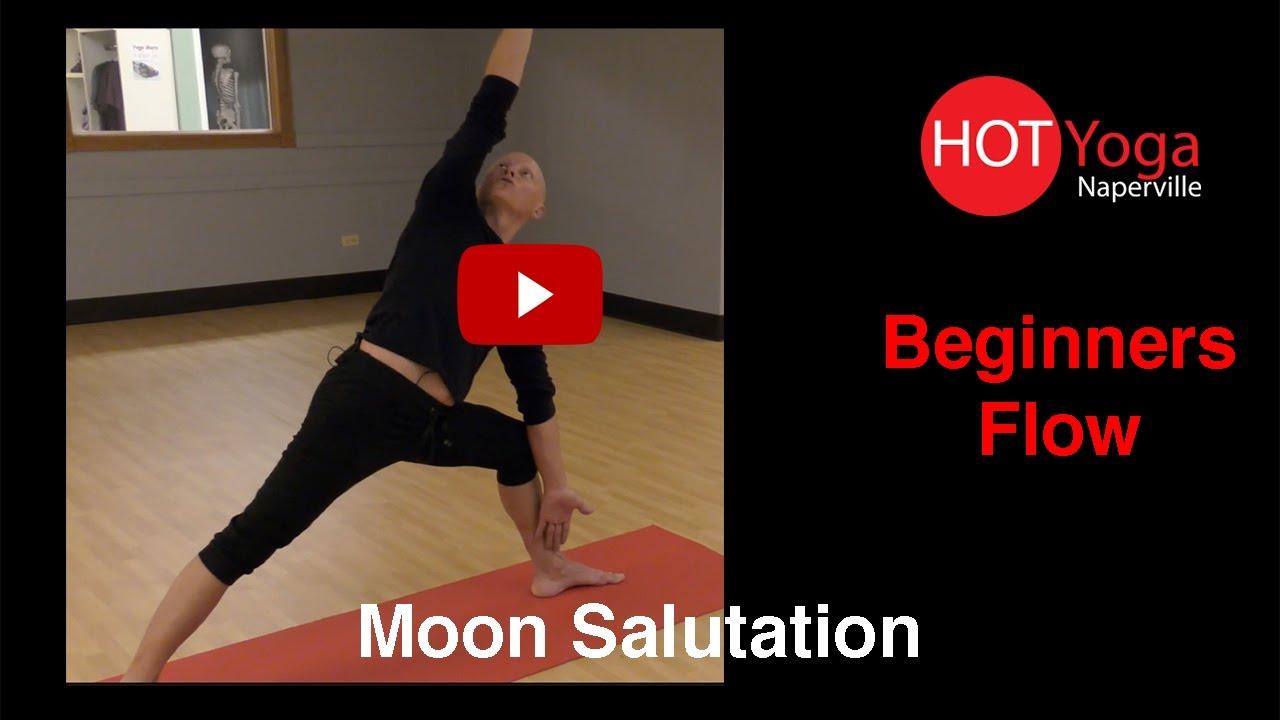Beginner Moon Salutation Flow Youtube