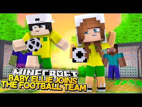 BABY ELLIE JOINS RAVENS FOOTBALL TEAM! Minecraft Little Kelly (Custom Roleplay)