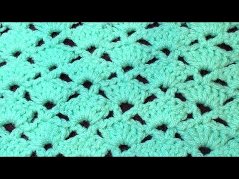 Easy crochet pattern for blanket, scarf or shawl