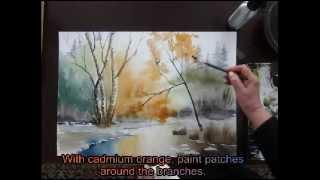 """water color tutorial """"a lovers hideway"""" Part II"""
