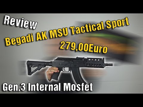 "Begadi AK MSU Tactical Sport ""Gen.3 Internal Mosfet"" S-AEG   Unboxing & Review   Highlander Airsoft"