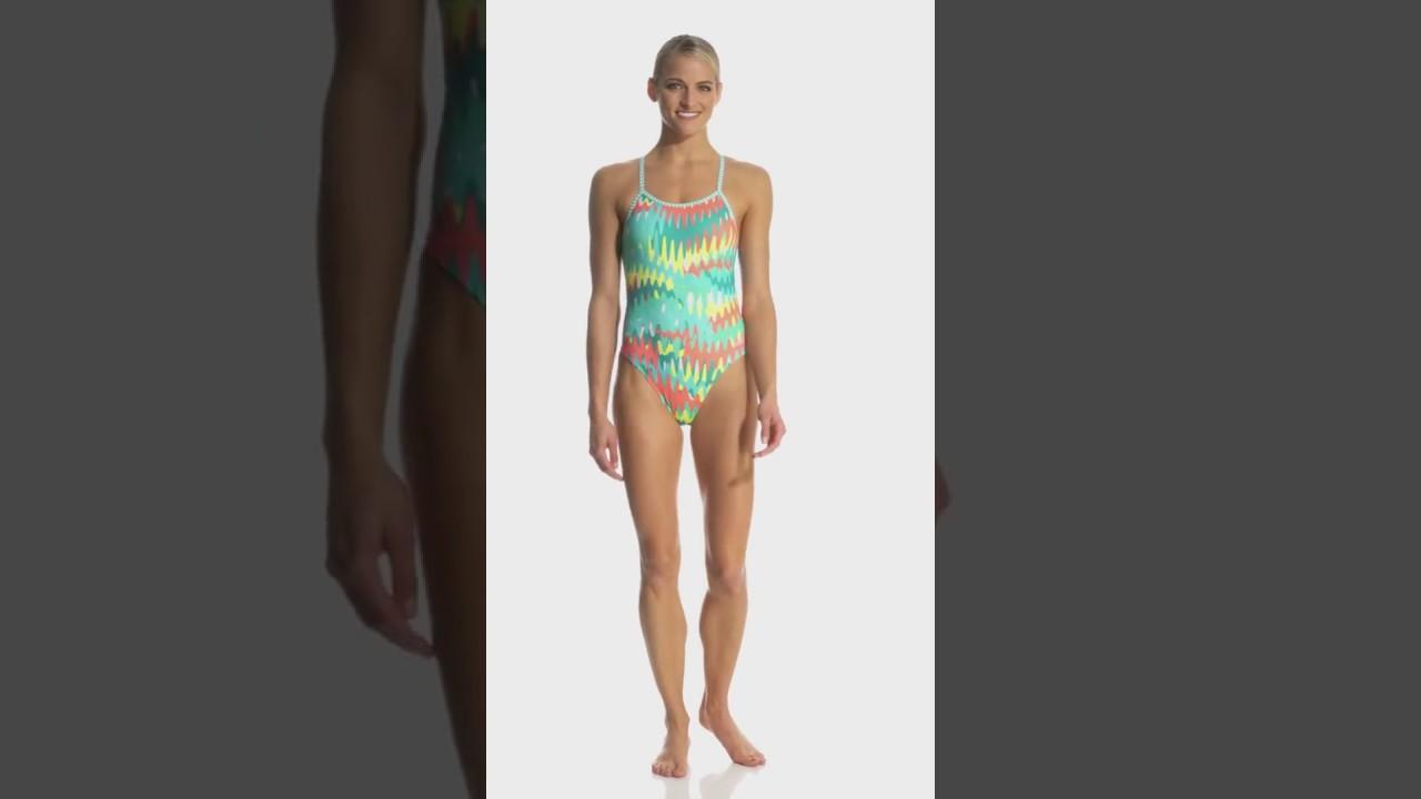 163692b93530a Dolfin Uglies Women's Zippy String Back One Piece Swimsuit | SwimOutlet.com