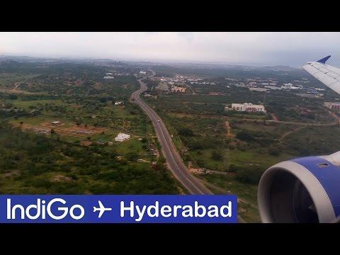 IndiGo Airlines landing in Hyderabad (HYD) | Engine View