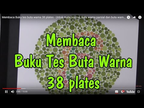 Membaca Buku Tes Buta Warna 38 Plates | Tes Buta Warna Parsial | Tes Buta Warna CPNS TNI POLRI