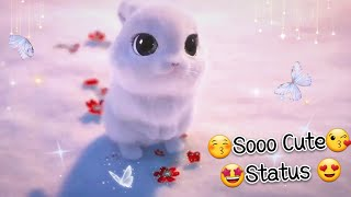 😘 So Cute 😍 3D Rabbit and Flowers  WhatsApp Status Video By Prasenjeet Meshram