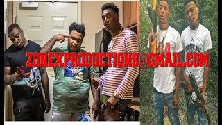 Baton Rouge Rapper Fredo Bang & Cleezy of TBG DROP location for NBA Youngboy