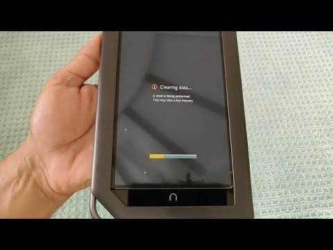 NOOK Color Hard Reset (if You Forgot Password)