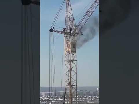 На стройке в Кошелев-Парке горел башенный кран